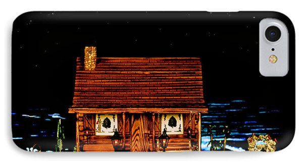 Miniature Log Cabin Scene With The Classic 1958 Ferrari 250 Testa Rossa In Color Phone Case by Leslie Crotty