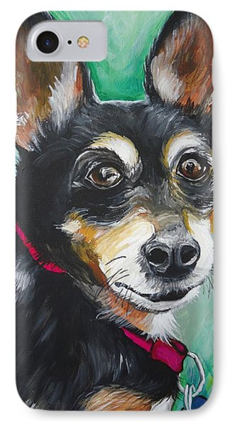 Miniature Pincher IPhone Case by Leslie Manley