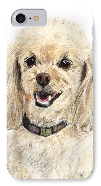 Miniature Poodle Painting Champagne IPhone Case