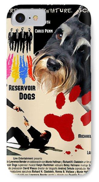 Miniature Schnauzer Art Canvas Print - Reservoir Dogs Movie Poster IPhone Case by Sandra Sij