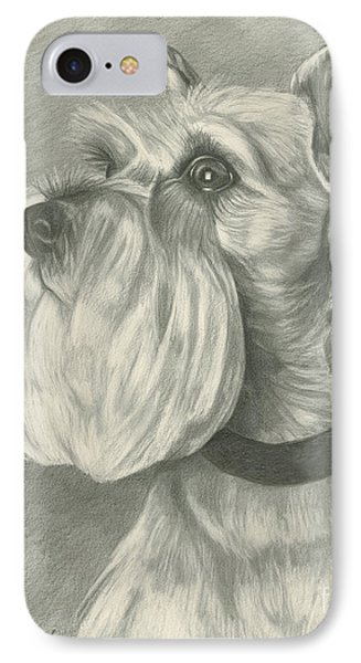 Miniature Schnauzer Phone Case by Lena Auxier