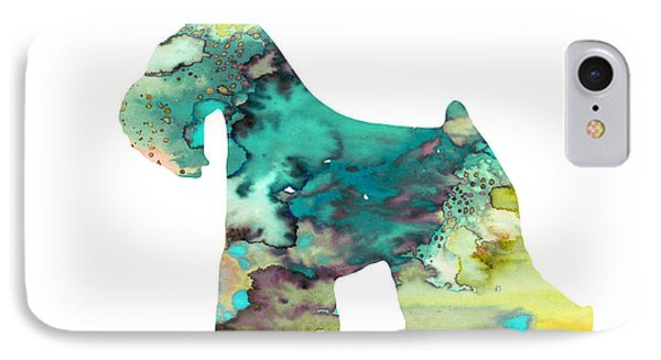 Miniature Schnauzer  IPhone Case by Watercolor Girl