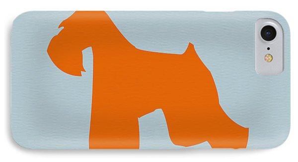 Miniature Schnauzer Orange IPhone Case by Naxart Studio