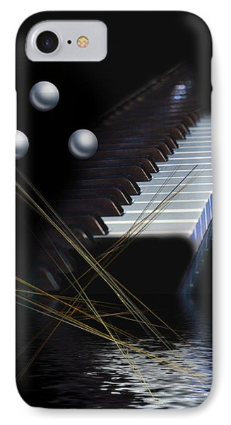 Minimalism Piano IPhone Case by Angel Jesus De la Fuente