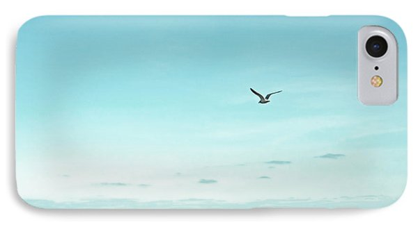Minimalist Blue And Brown Seascape IPhone Case by Brooke T Ryan