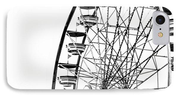 Minimalist Ferris Wheel - Square IPhone Case by Jon Woodhams