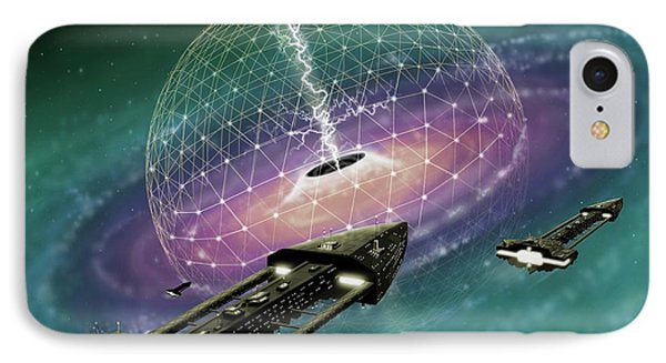 Mining Energy From A Black Hole IPhone Case by Mark Garlick