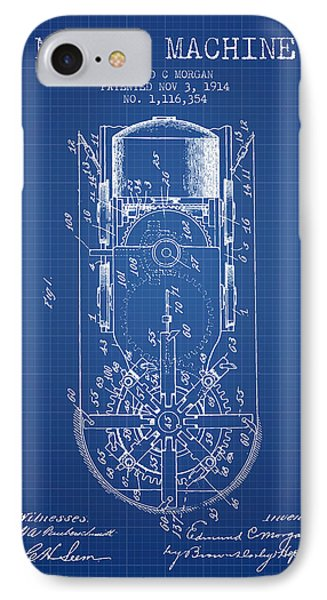 Mining Machine Patent From 1914- Blueprint IPhone Case by Aged Pixel