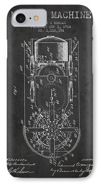 Mining Machine Patent From 1914- Charcoal IPhone Case