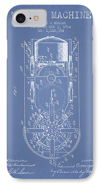 Mining Machine Patent From 1914- Light Blue IPhone Case