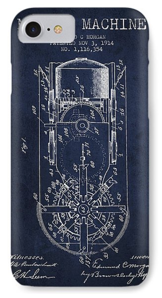 Mining Machine Patent From 1914- Navy Blue IPhone Case by Aged Pixel