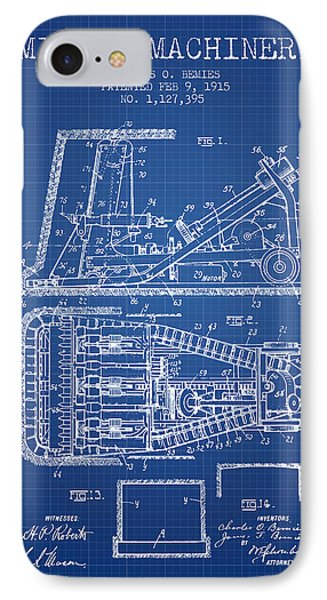 Mining Machinery Patent From 1915- Blueprint IPhone Case by Aged Pixel