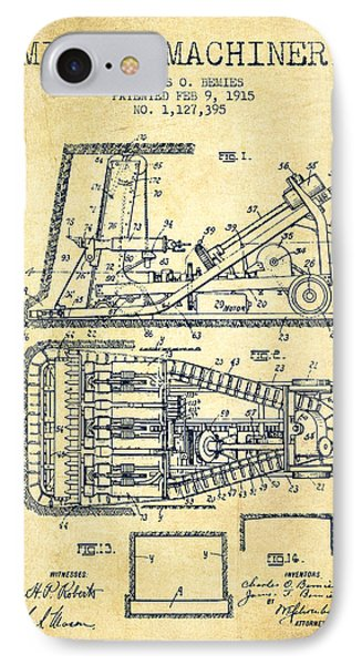 Mining Machinery Patent From 1915- Vintage IPhone Case by Aged Pixel