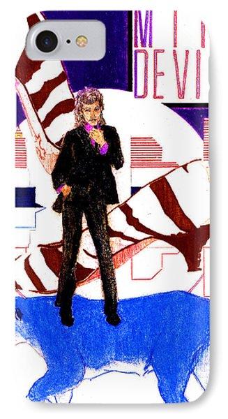 Mink Deville - Le Chat Bleu IPhone Case