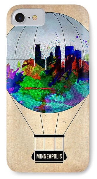 Minneapolis Air Balloon IPhone Case by Naxart Studio