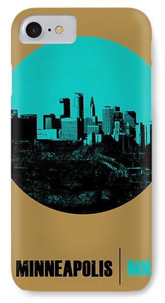 Minneapolis Circle Poster 1 IPhone Case by Naxart Studio