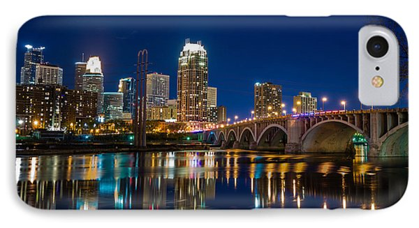 Minneapolis City Lights Phone Case by Mark Goodman