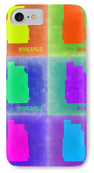 Minneapolis Pop Art Map 3 Phone Case by Naxart Studio