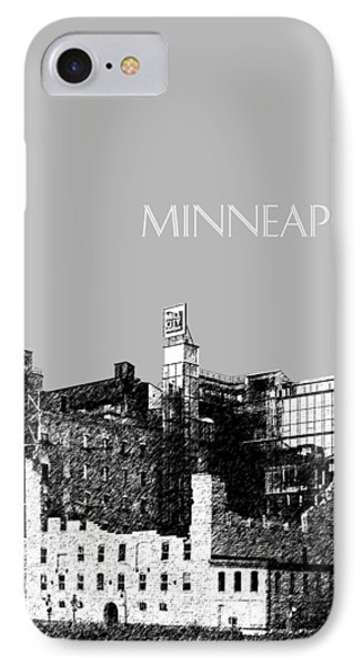 Minneapolis Skyline Mill City Museum - Silver IPhone Case by DB Artist