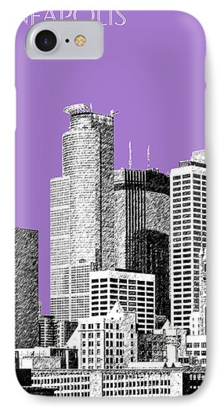 Minneapolis Skyline - Violet  Phone Case by DB Artist