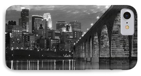 Minneapolis Stone Arch Bridge Bw IPhone Case
