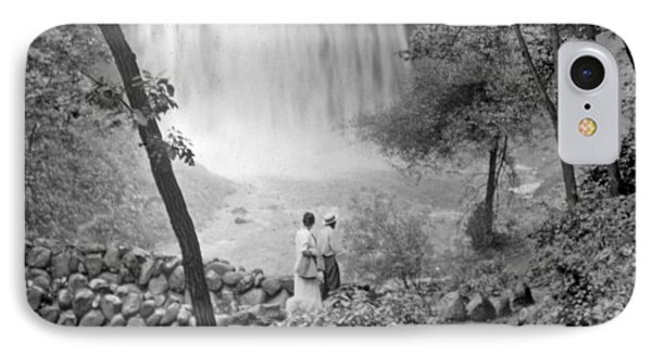IPhone Case featuring the photograph Minnehaha Falls Minneapolis Minnesota 1915 Vintage Photograph by A Gurmankin
