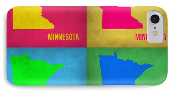 Minnesota Pop Art Map 1  IPhone Case