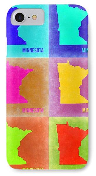 Minnesota Pop Art Map 2 IPhone Case