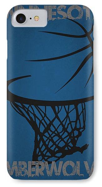 Minnesota Timberwolves Hoop IPhone Case by Joe Hamilton