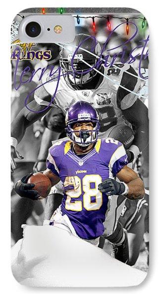 Minnesota Vikings Christmas Card IPhone Case by Joe Hamilton