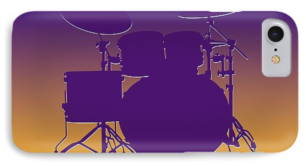 Minnesota Vikings Drum Set IPhone Case by Joe Hamilton