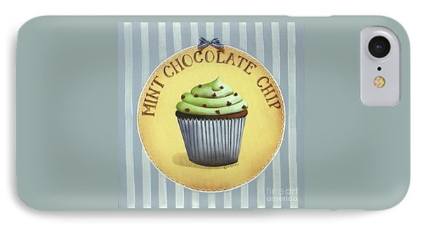 Mint Chocolate Chip Cupcake Phone Case by Catherine Holman
