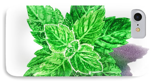 Mint Leaves IPhone Case by Irina Sztukowski