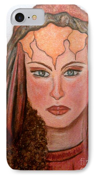 IPhone Case featuring the drawing Mirabella Wondrous Beauty by Lori  Lovetere