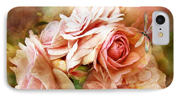 Miracle Of A Rose - Peach IPhone Case by Carol Cavalaris
