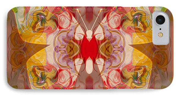 Miracles Can Happen Abstract Butterfly Artwork Phone Case by Omaste Witkowski