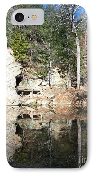 IPhone Case featuring the photograph Sugar Creek Mirror by Pamela Clements