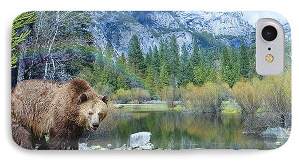 Mirror Lake Bear Phone Case by Alixandra Mullins