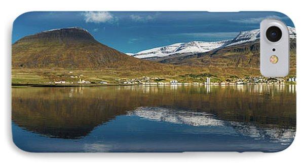 Mirror Landscape, Reydarfjordur, Iceland IPhone Case