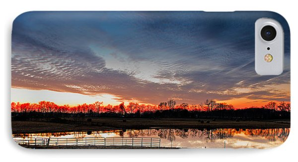 Mirrored Sunset  IPhone Case by Brett Engle