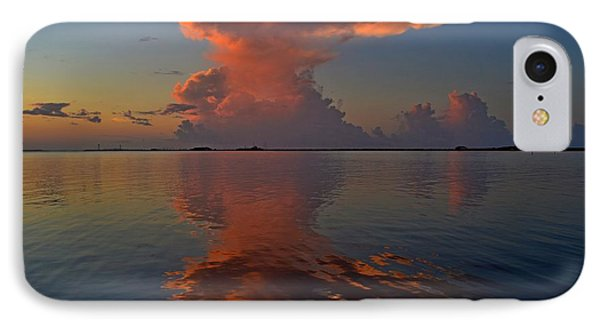 Mirrored Thunderstorm Over Navarre Beach At Sunrise On Sound IPhone Case by Jeff at JSJ Photography