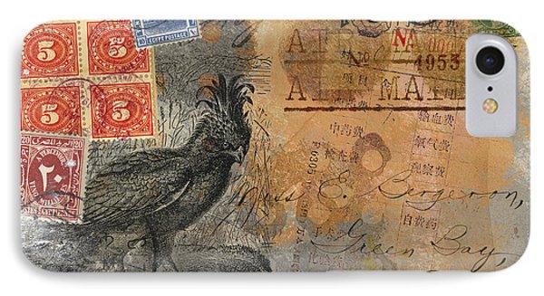 Miss Bergeron Postcard IPhone Case by Carol Leigh