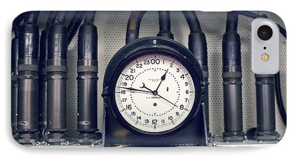 Missile Control Room Clock IPhone Case by Jim West