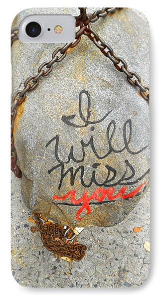 IPhone Case featuring the photograph Missing You by Joan Reese