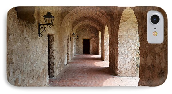 Mission Concepcion Promenade Walkway In San Antonio Missions National Historical Park Texas IPhone Case by Shawn O'Brien