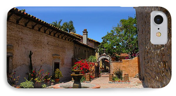 Mission Courtyard IPhone Case by Richard Stephen