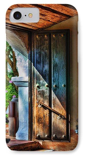 Mission Door Phone Case by Joan Carroll