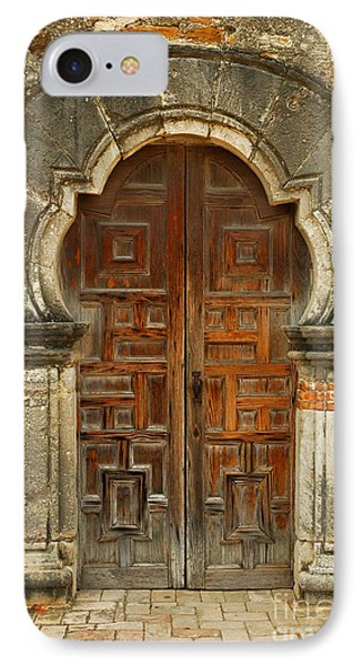 IPhone Case featuring the photograph Mission Espada Door  by Olivia Hardwicke