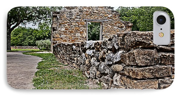 Mission Espada Ruins IPhone Case by Andy Crawford