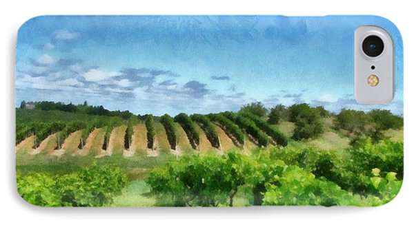 Mission Peninsula Vineyard Ll IPhone Case by Michelle Calkins